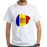 Andorra Flag Map Shirt