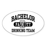Bachelor Party Drinking Team Oval Decal