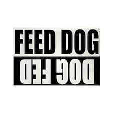 Feed Dog/Dog Fed Rectangle Magnet (10 pack)