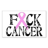 F*CK Cancer Rectangle Decal