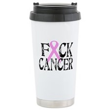 F*CK Cancer Ceramic Travel Mug