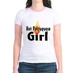 Hot Portuguese Girl Jr. Ringer T-Shirt