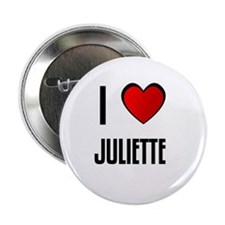 "I LOVE JULIETTE 2.25"" Button (100 pack)"