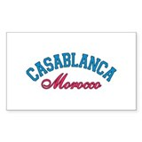 Casablanca Morocco Rectangle Sticker 50 pk)