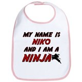 my name is niko and i am a ninja Bib