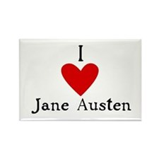 Jane Austen Love Rectangle Magnet