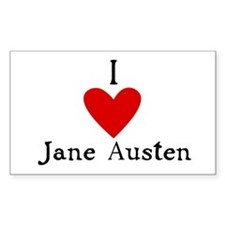 Jane Austen Love Rectangle Decal