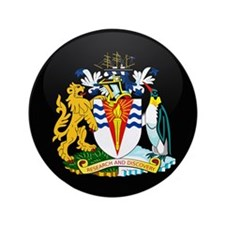 "Coat of Arms of Antarctica 3.5"" Button (100 pack)"