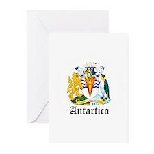 Antarctican Coat of Arms Seal Greeting Cards (Pk o
