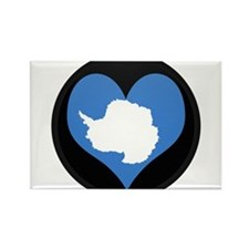 I love Antarctica Flag Rectangle Magnet