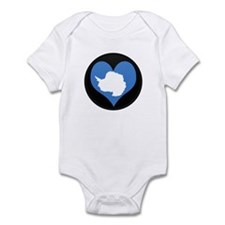 I love Antarctica Flag Infant Bodysuit