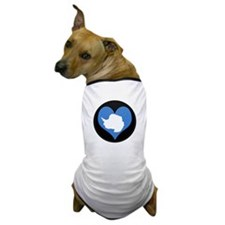 I love Antarctica Flag Dog T-Shirt