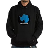 Flag Map of Antarctica Hoodie