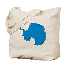 Antarctica Flag Map Tote Bag