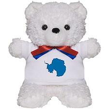 Antarctica Flag Map Teddy Bear