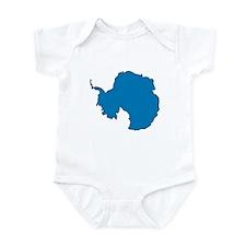 Antarctica Flag Map Infant Bodysuit