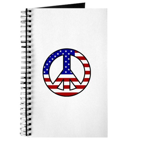 U.S. Flag Peace Sign Journal