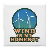 Wind Is My Homeboy Tile Coaster