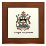 Antiguan Coat of Arms Seal Framed Tile