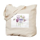 Pretty Pansy Tote Bag