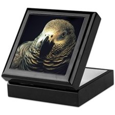 Moody African Grey Keepsake Box