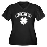 Chicago Irish Shamrock Women's Plus Size V-Neck Da