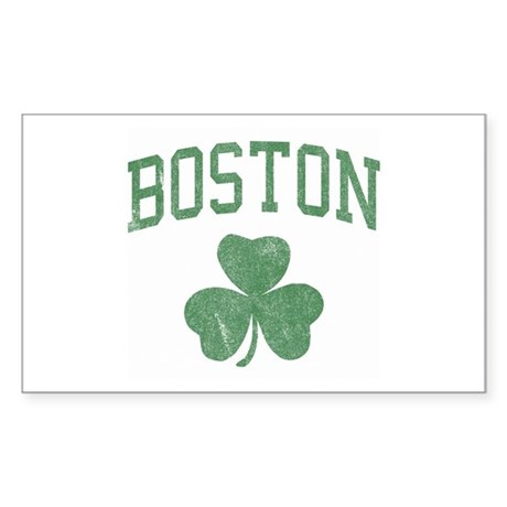 Boston Irish Rectangle Sticker
