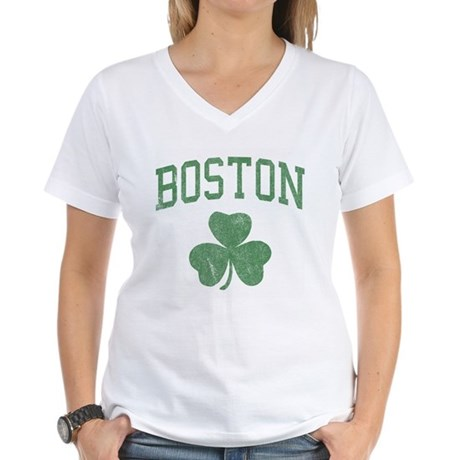 Boston Irish Womens V-Neck T-Shirt