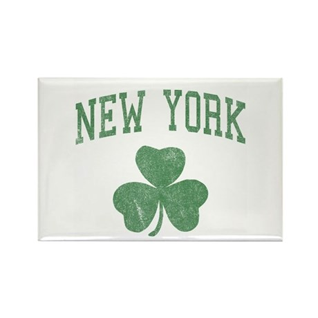 New York Irish Rectangle Magnet