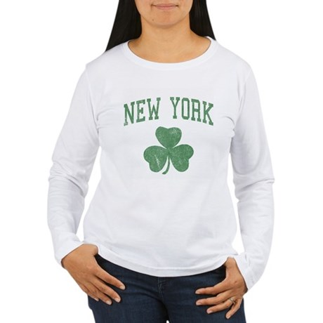 New York Irish Womens Long Sleeve T-Shirt