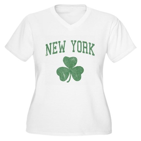 New York Irish Plus Size V-Neck Shirt