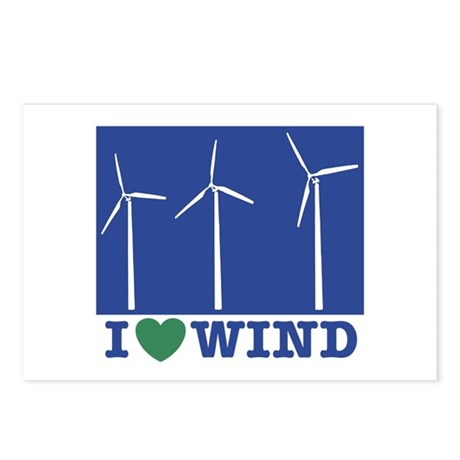 I Love Wind Postcards (Package of 8)