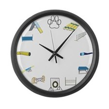 Agility Time Large Wall Clock
