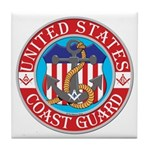 Coast Guard Masons Tile Coaster