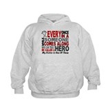 HERO Comes Along 1 Sister BRAIN CANCER Hoodie