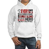 HERO Comes Along 1 Dad BRAIN CANCER Jumper Hoody