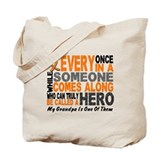 HERO Comes Along 1 Grandpa LEUKEMIA Tote Bag