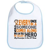 HERO Comes Along 1 Grandpa LEUKEMIA Bib