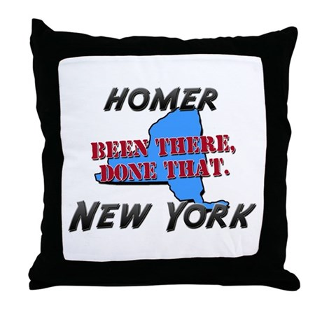homer new york - been there, done that Throw Pillo
