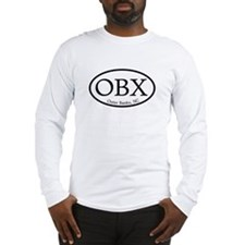 OBX Outer Banks, NC Oval Long Sleeve T-Shirt
