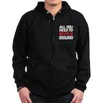 I Wear Black All Warriors Zip Hoodie