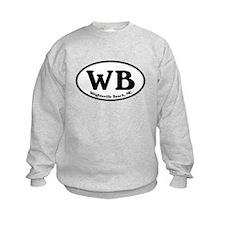 WB Wrightsville Beach Oval Sweatshirt