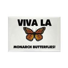 Viva La Monarch Butterflies Rectangle Magnet
