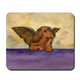 Longhaired Doxie Angel Mousepad