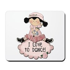 Black Hair Girl Dancer Mousepad