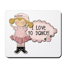 Blond Girl Dancer Mousepad