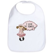 Lt. Brown Hair Girl Dancer Bib