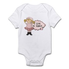 Blond Girl Dancer Infant Bodysuit