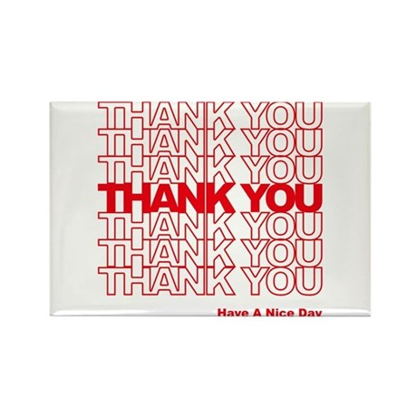Thank You Bag Rectangle Magnet