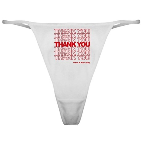 Thank You Bag Classic Thong
